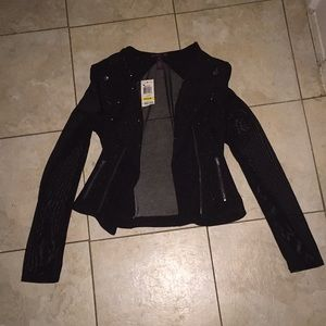 Sheer sexy Moto jacket great for i'm night out